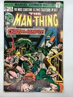 THE MAN-THING #18 MARVEL 1975 BRONZE AGE COMIC BOOK SCHOOLS OUT!