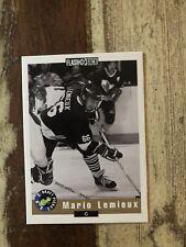 1992 Classic Draft Picks Mario Lemieux Penguins Card #NNO Flashback Promo NM/M
