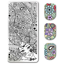 BORN PRETTY Nail Art Stamping Image Plate Paisley Girl Theme Manicure Stencil