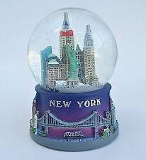 Blue New York City Snow Globe 3.5 Inch (65mm) Skylines & Statue liberty Wg107