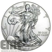 USA - 1 Dollar 2017 - Silver Eagle / Walking Liberty - 1 Unze Silber ST