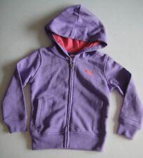 PUMA NWT Girls Athletic Track Hoodie Full Zip Jacket Logo Cat Purple Orange 6X