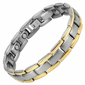 Mens Strong Magnetic Therapy Bracelet 15 x 3000 Gauss Magnets By Willis Judd