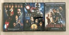 Iron Man 1, Iron Man 2, Iron Man 3 Trilogy Set New 3 DVD Free Shipping Marvel