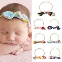 Bohemia Newborn Baby Girl Bow Knot Hairbands Floral Headband Hair Band Headwear