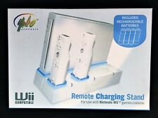 New Remote Charging Stand w/ Rechargeable Batteries (Nintendo Wii)