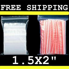 100 Clear Reclosable Zip Seal Zipper Bag Plastic 1 Mil Bags Poly Small Baggies