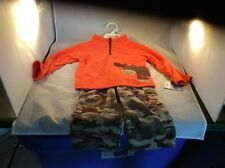 carters 2 piece set boys 24m moose And Camo Fleece Nwt Box O