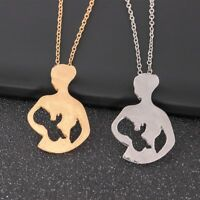 Stainless Steel Mother's Day Gift MOM BABY Necklace Pendant Women Family Jewelry