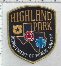 Highland Park Department of Public Safety (Texas) 3rd Issue Shoulder Patch