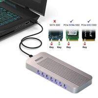 CY UC-083 Type-C to NVMe AHCI M-key M.2 NGFF PCI-E 2 Lane SSD Enclosure Case