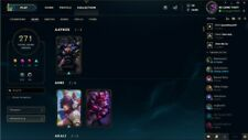 league of legends na account 271 Skins Silver 4 level 94