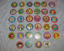 Vtg Pogs Lot - 34 Simpons 1994 Bongo Comics Group Skycaps From Skybox