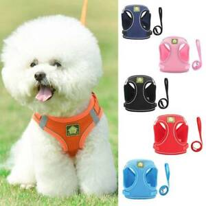 Pet Harness Vest Air Mesh Service Dog Harness Chest Strap Reflective S-XL Dogs 9