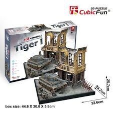 German Tiger 1 tank échelle 1:35, CUBICFUN 3D Push-Fit Model Kit Age 8 Plus