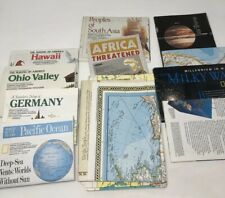 Lot of 14 National Geographic Maps 1980's 1990's Space Geography Places