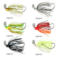 17g Chatterbait Blade Bait with Rubber Skirt Beard Soft Fishing Lures Tackle