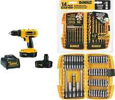 DEWALT 18-Volt Cordless Drill + 45-Pc Screwdriving Set + 14-Piece Drill Bit Set