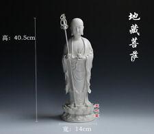 China Dehua Porcelain Tangseng Jizo Ksitigarbha Bodhisattva Monk Buddha Statue