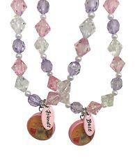 Disney Princess BFF Best Friends Necklace Set Aurora Cinderella Jewelry - Pink