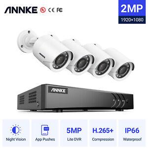ANNKE 8CH 5MP Lite DVR 2MP CCTV Outdoor Camera Home Security System Remote IP66