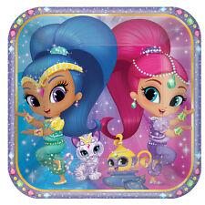 8 x Shimmer & Shine Paper Plates Girls Shimmer & Shine Birthday Party Tableware