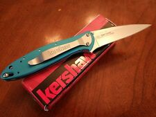 Kershaw Leek 1660 Rare Teal knife, KEN ONION Design, Made in USA,
