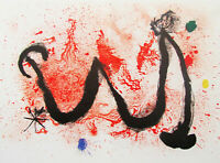 MIRO - WILD WOMAN  -  ORIGINAL LISTED LITHOGRAPH - 1963 - FREE SHIP IN US  !!!