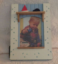 "Malden Picture Frame Boys Toddler Sailboat Car Moon Stars 4x6 Photo 9.5"" x 6.75"""