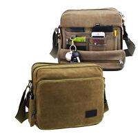 Men's Canvas Shoulder Bag Messenger Satchel Rucksack School Travel Backpack