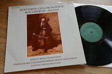 JÜRGEN WOLF Famous Cello Concerti Boccherini Haydn LP Sastruphon SM 007011