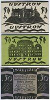 Güstrow komplette Serie 9 Scheine 3x 50,3x 75x100 Pfg. 31.Dez. 1922 - RAR