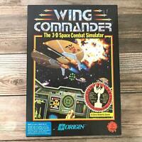 Super Complete! Vintage Wing Commander IBM PC Dos Origin 5.25 BIG BOX 1990