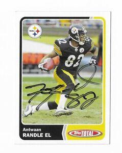 2003 Topps #113 Antwaan Randle El Pittsburgh Steelers SIGNED COA