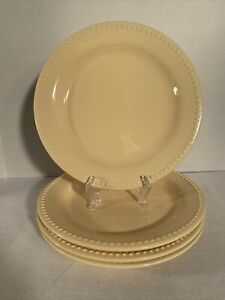 """POTTERY BARN """"EMMA""""  BUTTER YELLOW 11 1/2"""" DINNER PLATE DISCONTINUED SET OF 4."""