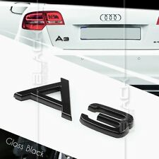 GLOSS BLACK A3 REAR BOOT TRUNK LOGO LETTER EMBLEM BADGE FOR AUDI QUATTRO S LINE