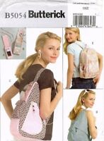 Butterick  Backpacks and MP3 Player Covers Pattern B5054 UNCUT