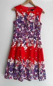 ADRIANNA PAPELL amazing Side Pleat A Line Dress Size 12
