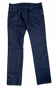NEIL BARRETT Italy Indigo Navy Blue Slim Fit Stretch Denim Jeans RRP: £275.00