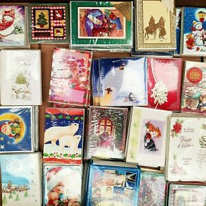 Joblot Christmas Cards - Approximately 100 Packs / 2000 Cards