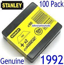 Stanley 1992 Blades x 100 + 2 Free Tungsten Carbide Economy Bulk Pack GENUINE
