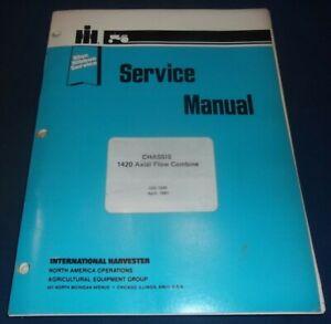 INTERNATIONAL HARVESTER 1420 AXIAL FLOW COMBINE SERVICE REPAIR MANUAL GSS-1500