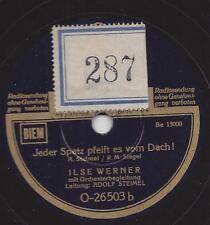 Ilse Werner: FIPS della Pfeifer! + ogni passerotto Colln FlSCHlA è dal tetto!