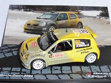 RENAULT CLIO S1600 #39 BERNARDI GIRAUDET RALLY MONTE CARLO 2004 IXO ALTAYA 1/43