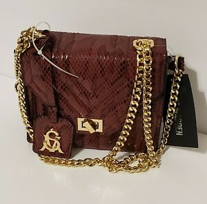 Steve Madden Bonds Medium Chain Strap Shoulder Crossbody Handbags Purse