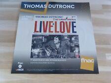 THOMAS DUTRONC - Live is love !!! PLV 30 X 30 CM !!I DISPLAY