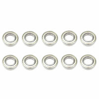 10x 6207 ZZ Single Row Deep Groove Ball Bearings - 35x72x17 mm