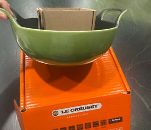 Le Creuset Enameled Cast Iron Balti Dish, palm green .  New In Box.