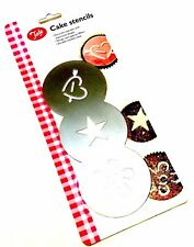 New Tala Cupcake Cake Stencil Heart Star Flower Stainless Steel Baking Outils