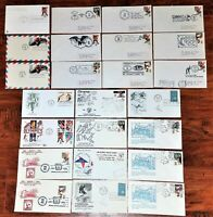 HUGE LOT FIRST DAY ISSUE ARTMASTER OLYMPIC COVERS FDC 1960-1984, STAMPS 4c -28c
